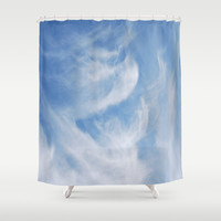 Clouds and sky Shower Curtain by Laureenr