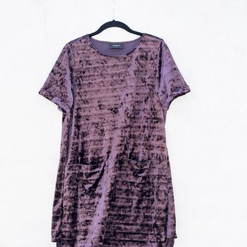 Amethyst Velvet Shift Dress