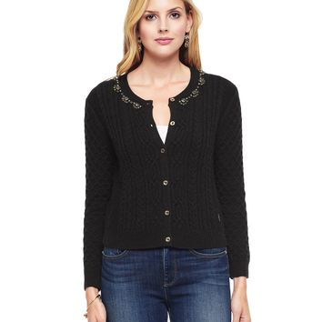 Embellished Cable Sweater Cardigan by Juicy Couture