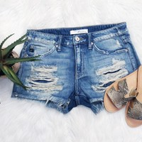 Show Off Mid Rise Denim Shorts