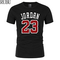 RUBU 2018 New Brand Clothing Jordan 23 Men T-shirt Swag T-Shirt Cotton Print T shirt Homme Fitness Camisetas Hip Hop Tees