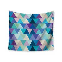 "Draper ""Crystal"" Purple Geometric Wall Tapestry"