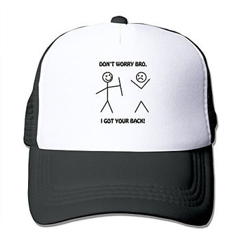 MYDT1 Unisex I Got Your Back Funny Stick Figures Classic Mesh Back Trucker Cap Hat
