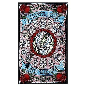 Grateful Dead 3D Mexicali Sugar Skulls Tapestry Throw Bedspread Dorm Beautiful