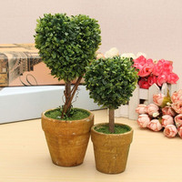 Wedding Arrangement Artificial Garden Grass Buxus Balls Boxwood Topiary Landscape Fake Trees Pots Plants