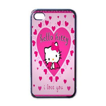 iPhone Case - Hello Kitty Cute Pink Kitty Love - iPhone 4 Case Cover | Merchanstore - Accessories on ArtFire