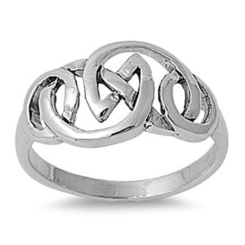 925 Sterling Silver Celtic Gaelic Innovation Ring