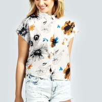 Isobel Floral Boxy Crop Shirt