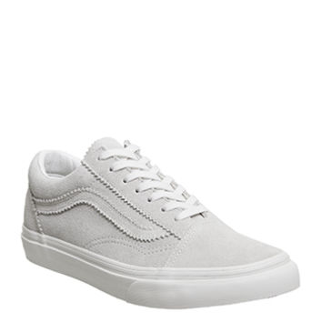 Vans Old Skool Trainers Blanc Silver - Unisex Sports