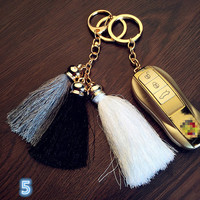 Car Keychain Bag Tassels Hang Decor Luxe Silk Tassels Key Chain