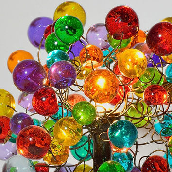 Table lamp with multicolored  bubbles.