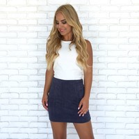 Making Moves Skirt in Navy