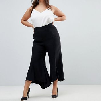 ASOS CURVE Tailored Soft Fluted PANTS at asos.com