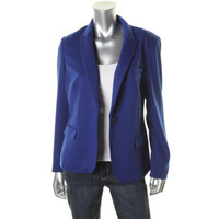 INC Womens Ponte Long Sleeves One-Button Blazer