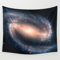 Wall Tapestry, Space Tapestry, Wall Hanging, Barred Spiral Galaxy Stars, Space Wall Art, Large Photo Wall Art, Modern Tapestry, Home Decor