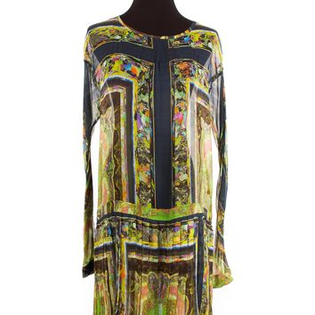 Dries Van Noten Green Sheer Dress