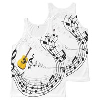 guitar with notes ver 2 All-Over-Print tank top