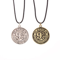 Harry Potter Platform 934 necklace Kings Cross London pendant necklace rope chain moive&tv cosplay party jewelry best gift fans