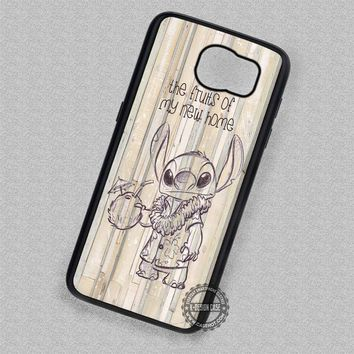 Cartoon Drinking Time Lilo Stitch - Samsung Galaxy S7 S6 S5 Note 7 Cases & Covers