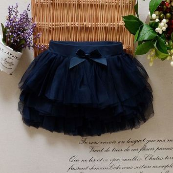 Hot Sale 2-6y 2017 New Arrial Summer Girls Skirt Children Lace Skirt Kids Mesh Tutu Skirt Baby Fashion Short Skirt 6 Colors