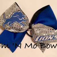 Detroit Lions Tick Tock Cheer Bow