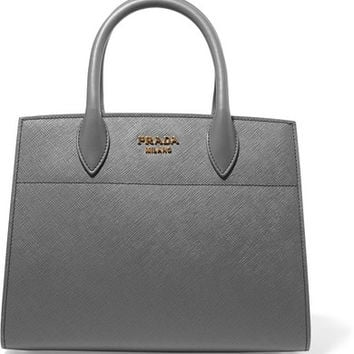 Prada - Bibliothèque textured-leather tote