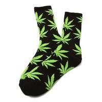 HUF Men's Plantlife Socks One Size Purple
