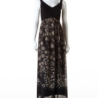 Animal Print Chiffon Maxi Dress