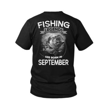 ESBV4S Fishing Legends Are Born In September Shirts
