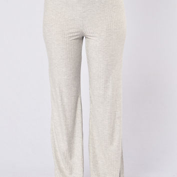 Kickin' It Old School Pants - Heather Grey