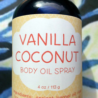 Vanilla Coconut Body Oil Spray ~ Dry Oil Spray ~ Moisturizing Body Oil ~ Spray Oil ~ Body Spray