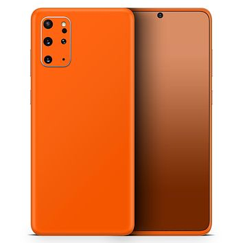 Solid Burnt Orange - Skin-Kit for the Samsung Galaxy S-Series S20, S20 Plus, S20 Ultra , S10 & others (All Galaxy Devices Available)