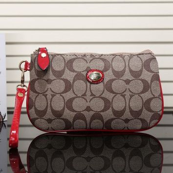 COACH Women Fashion Shopping Leather Zipper Wallet Purse