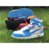 The 10: Off-White x Nike Air Jordan 1 Blue/White Sneaker