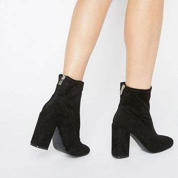 Miss Selfridge Faux Suede Sock Boot
