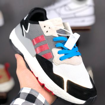 HCXX A1374 Adidas Nite Jogger EQT Boost Fashion Casual Running Shoes White Black Red