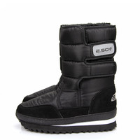 WEISE Free shipping women shoes Slip-resistant waterproof  snow boots male snow boots shoes medium-leg boots women
