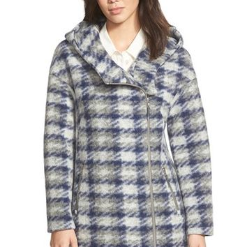 Women's Soia & Kyo 'Kym' Plaid Drop Shoulder Hooded Coat,