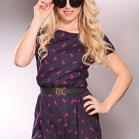 Navy Magenta Horse Print Short Sleeves Romper Outfit @ Amiclubwear Outfits Clothing online store sales:Sexy Outfit,Jumpsuit,Catsuit,School Girl Outfit,Women's Jumpsuit,Hot Outfit,Dance Outfit,Party Outsuit,teen clothing,Christmas,Nurse,Cheerleading,Weddin