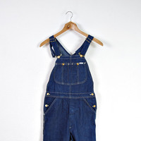 70s LEE MR Denim Overalls / Hip Hop Workwear Style / Men Size S