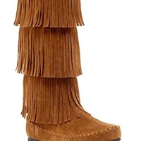 Charles Albert Women's 3-Layer Fringe Moccasin Boot  UGG boots