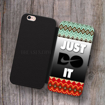 Wallet Leather Case for iPhone 4s 5s 5C SE 6S Plus Case, Samsung S3 S4 S5 S6 S7 Edge Note 3 4 5 Nike just do it Cases