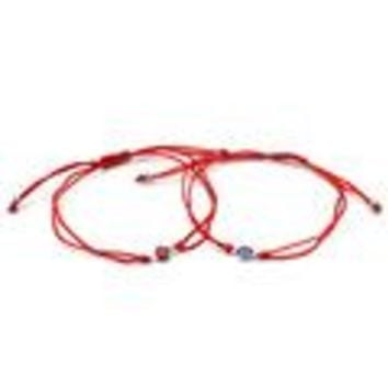 Best Selling Thin Red Thread Evil Eye Charms Bracelet String Rope Braided Bangles Bracelets