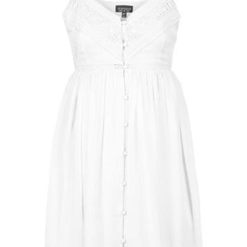 Button Down Sundress - Dresses - Clothing