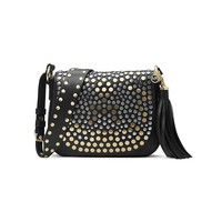 MICHAEL Michael Kors Studded Brooklyn Medium Saddle Bag