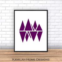 Geometric Art, Purple and White, Abstract Prints, Geometric Wall Art, Minimalist Art, Simple Prints, Abstract Wall Art,Printable Art, Prints