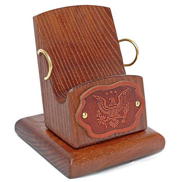 """Wooden Stand """"EAGLE"""". IPhone 5/4S/4/3GS Wood Table Stand. Phone Accessories. Handcrafted Natural Ash-Tree"""