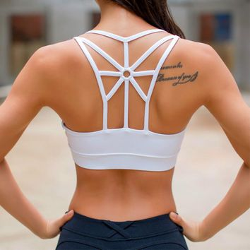 Strappy Open-back High Strength Sports Bra