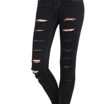 Full Distressed Marie Jeans