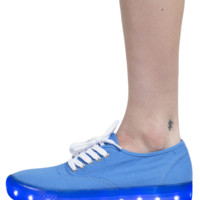 ILLUMINATE NEON BLUE SNEAKERS